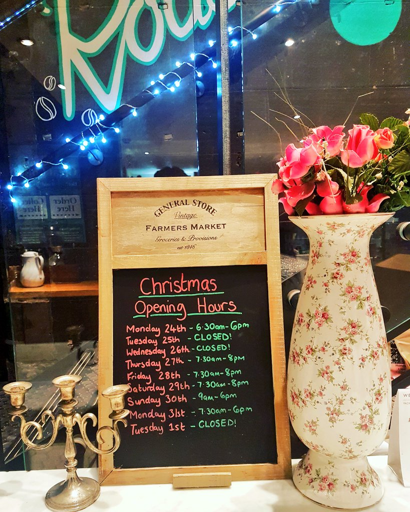 Gordon St Coffee On Twitter Christmas Opening Times