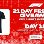 It's day 18 of our #F1FestiveGiveaway!   Who fancies winning a @BrendonHartley T-shirt from the F1 Store?  Enter now, and you could also win a pair of Paddock Club tickets to a 2019 race >> https://t.co/tot4vIfVvh 🎄