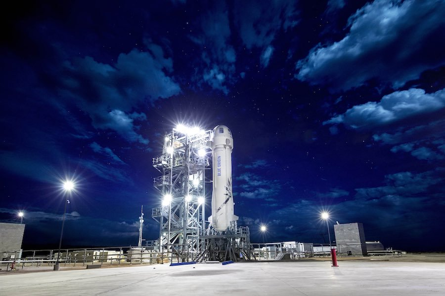 Blue Origin will launch its suborbital New Shepard booster today in West Texas, carrying a suite of NASA-sponsored payloads to the edge of space as the company plans flights with people next year. Watch the launch live at 8:30am CST (9:30am EST; 1430 GMT): https://t.co/MAobgPzYXI