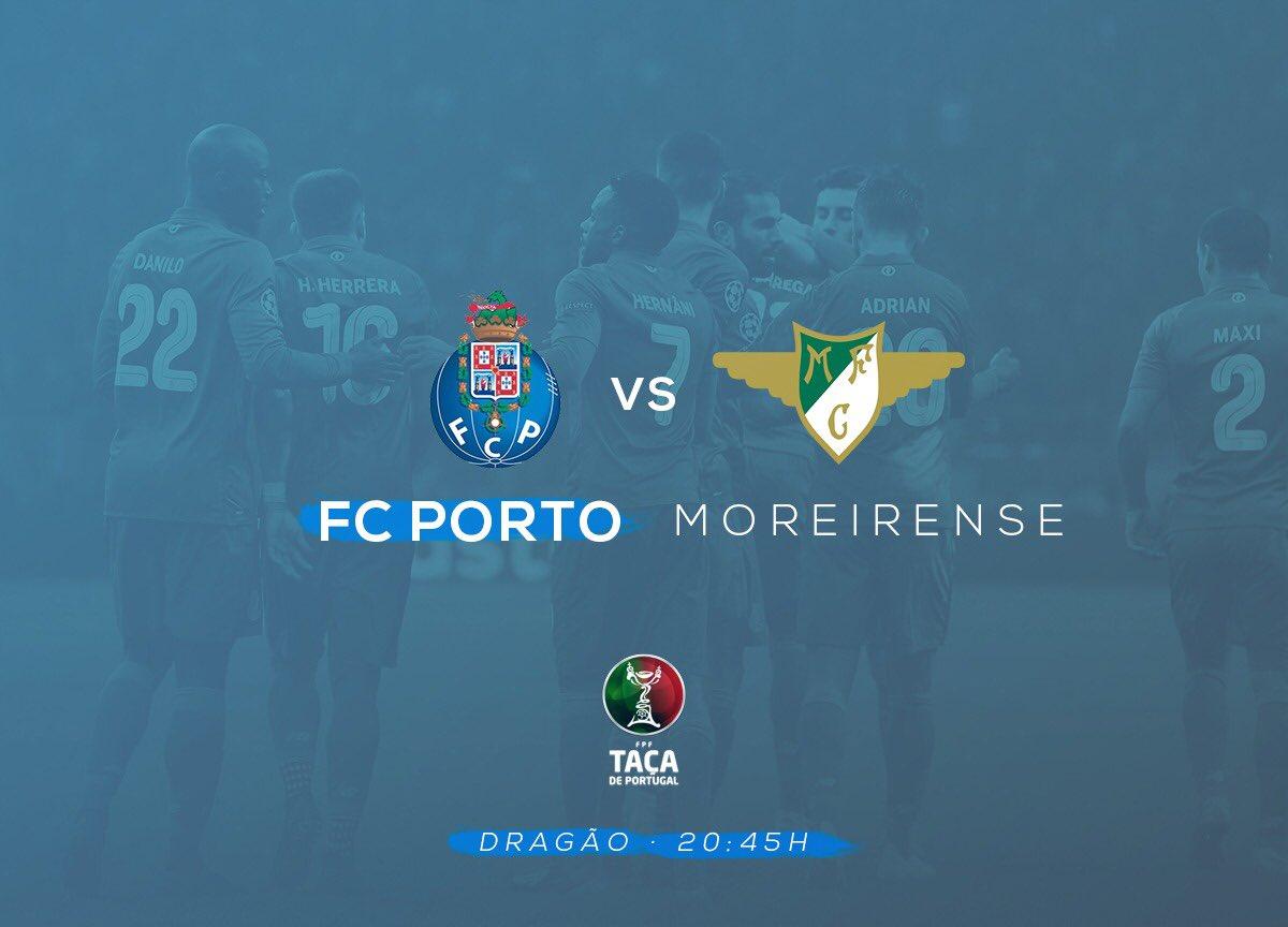 Día de partido. Hoy toca #TaçaDePortugal 🐉 🆚 Moreirense FC  🏟 Dragão ⏰ 20:45 🇵🇹/ 21:45 🇪🇸