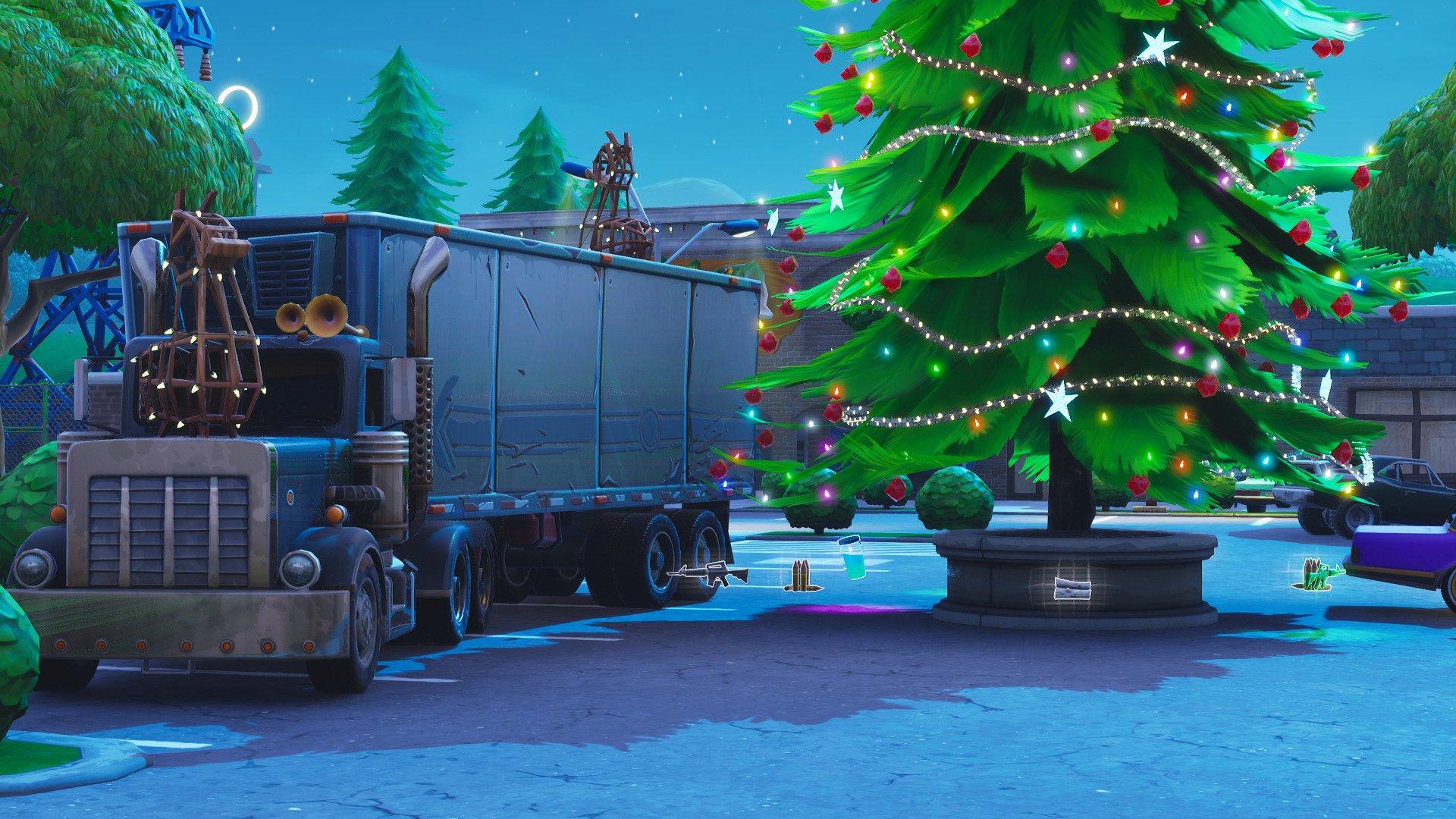 Fortnite Christmas Tree Background.Fortnite News On Twitter Christmas Trees Have Returned And