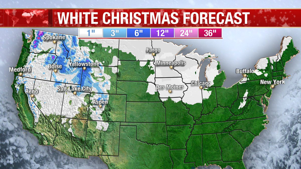 White Christmas Forecast.Bill Karins On Twitter White Christmas Snow Forecast For
