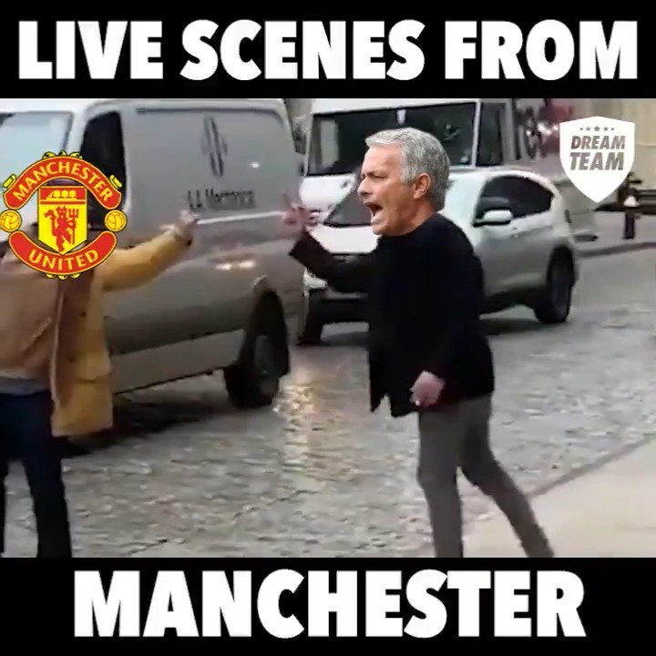Mourinho clearly isn't taking the news very well 😂