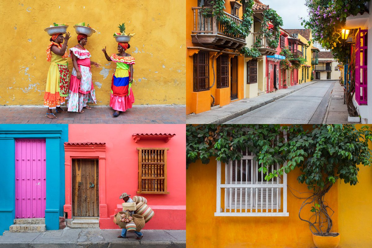 Happy #TravelTuesday! Colorful Cartagena, Colombia from a trip in 2014.
