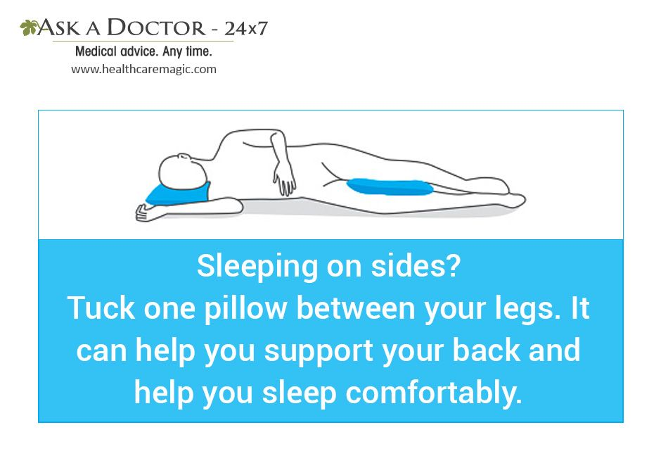 Largest Health Q&A site. Ask a Doctor Online at     https://t.co/kQBzB69Ql9  #pillowbetweenlegs #helpsleeppeacefully#AskADoctor#DailyHealthTips#HealthcareMagic
