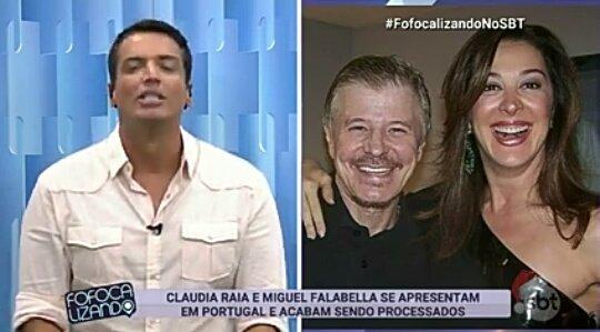 #FofocalizandoNoSBT nossa Cláudia Raia e Miguel Falabella sendo processados em 😲💣🔥 Foto