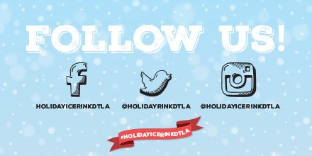 Stay up-to-date on everything about @HolidayRinkDTLA and follow us on Twitter and our other social media platforms.  Spread the love and tell a friend! #HolidayIceRinkDTLA  #holidaysinLA #holidayiceskating #thingstodoinLApic.twitter.com/EhLd1YnplD