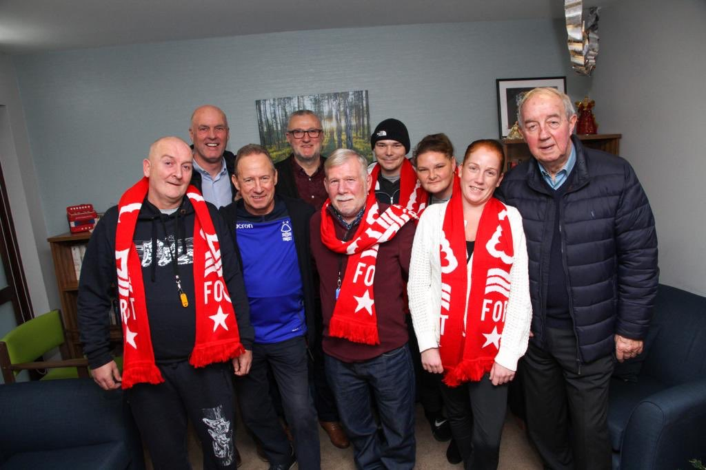 👏 #NFFC legends paid a visit to the residents at Edwin House earlier today.   John McGovern, John Metgod, Frank Clark and Garry Birtles visited @Framework_HA's care and reablement centre which provides high-quality care to people with complex health needs.