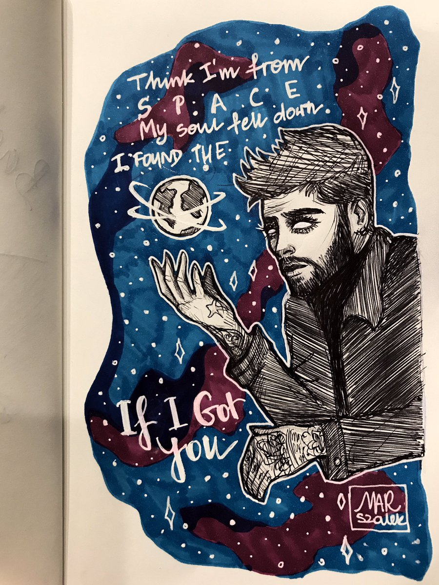 Think Im from space My soul fell down I found the earth Not leaving now I know your face Think you fell too And its my place now, if I got you 🎶🤘🏻 @zaynmalik @inZAYN 😩🥰🙏🏻🎶