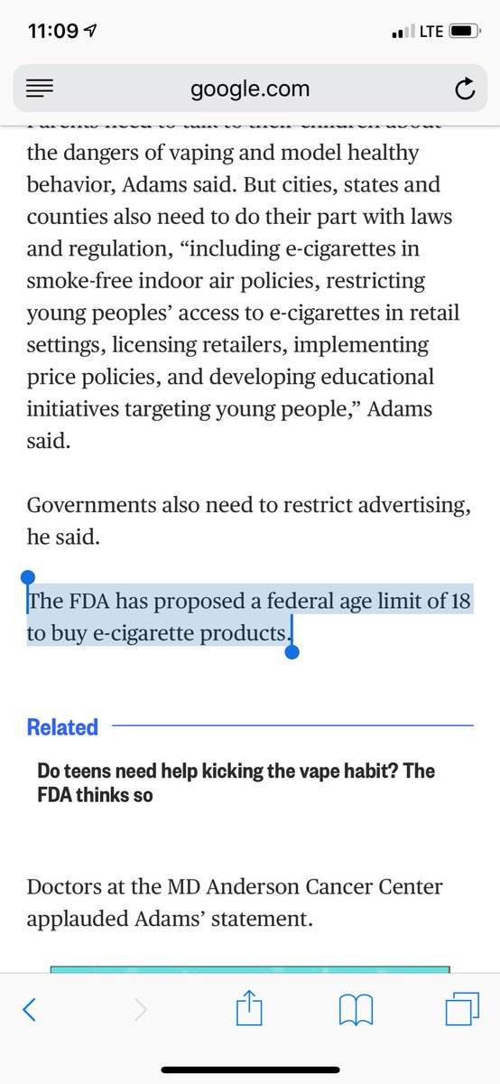 Fda Advisers Ban Use Of Behavior >> Jeff Stier On Twitter The Fda Only Proposed Banning Sales To