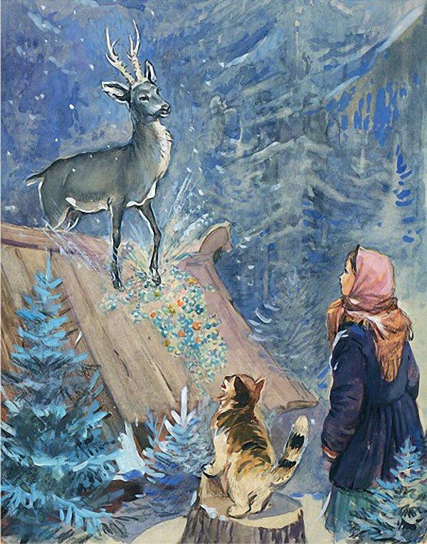 Картинки из сказки серебрянное копытце