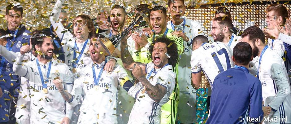 On this day in 2016, Real Madrid won the #ClubWorldCup. They beat Kashima Antlers 4-2 in extra time.