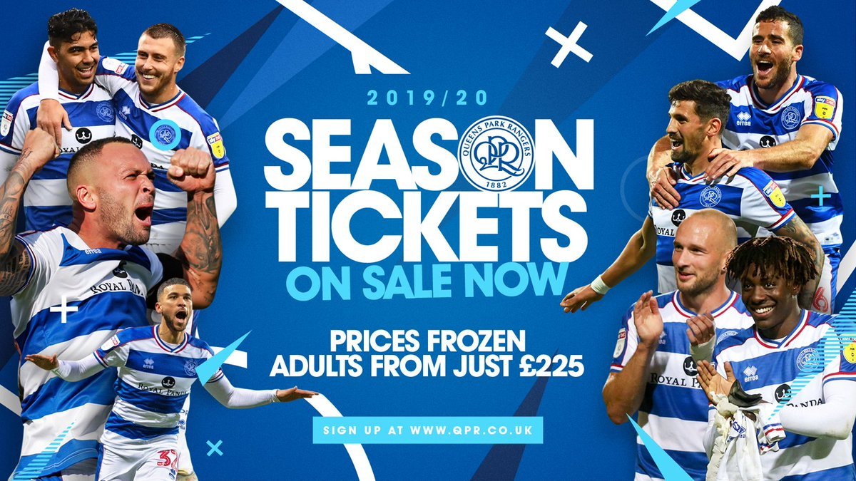❄ Prices frozen again 📅 Loyalty Window savings 💷 Earn #QPRCash #QPR1920 Season Tickets are now on sale! ▶ qprng.rs/QPR1920