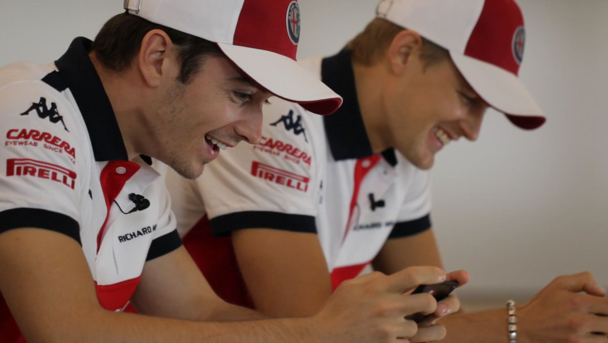 Earlier this year, @SauberF1Team's 2018 line-up of @Charles_Leclerc and @Ericsson_Marcus got behind the wheel of F1® Mobile Racing 📱🏎  Wanna join them on the worldwide grid? Download now! 👉 https://t.co/BRIZ3cqF2q