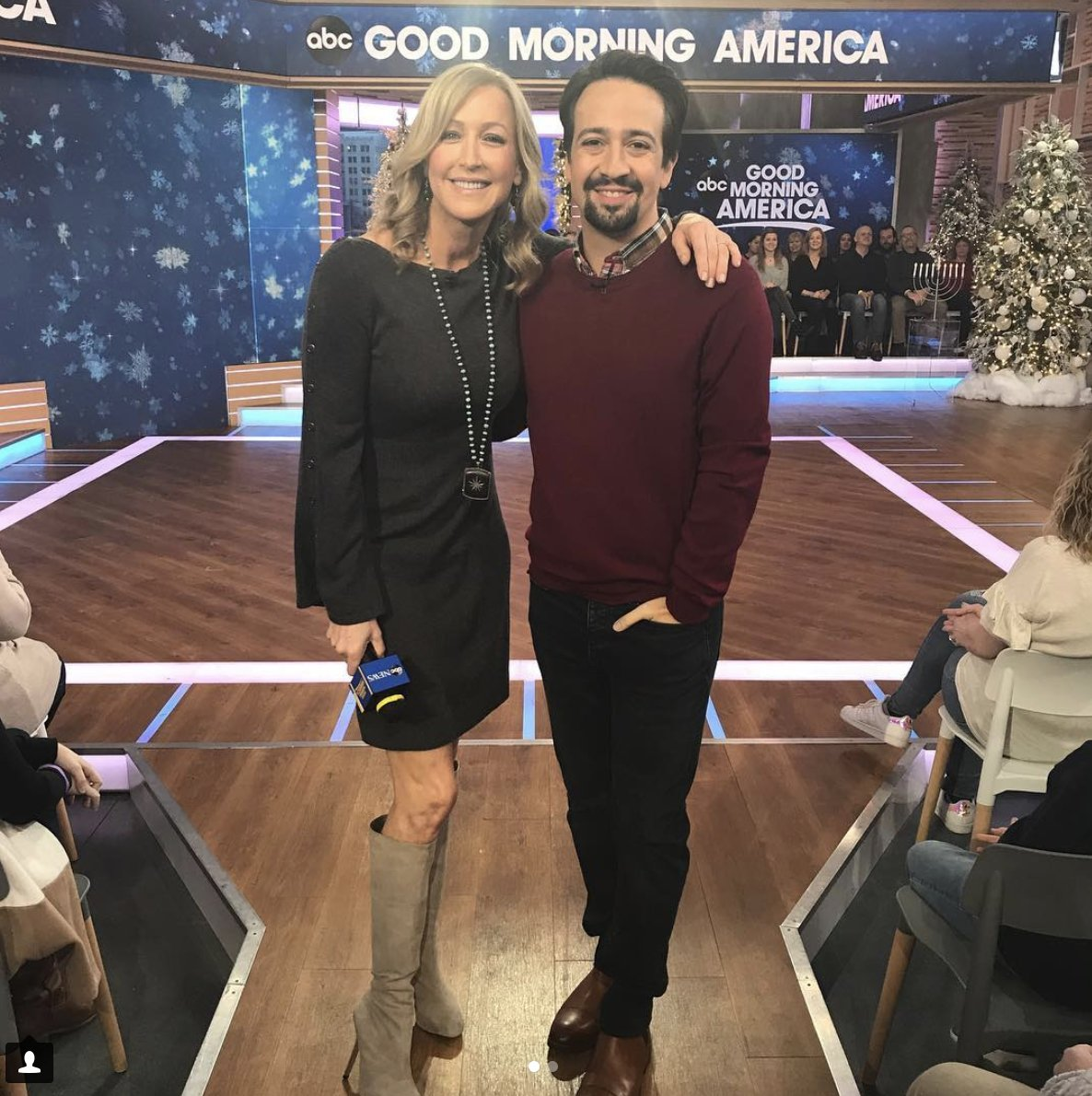 We never throw away our shot to hang with @Lin_Manuel! So great having him here to talk @MaryPoppins and his @HamiltonMusical Puerto Rico debut 🌟