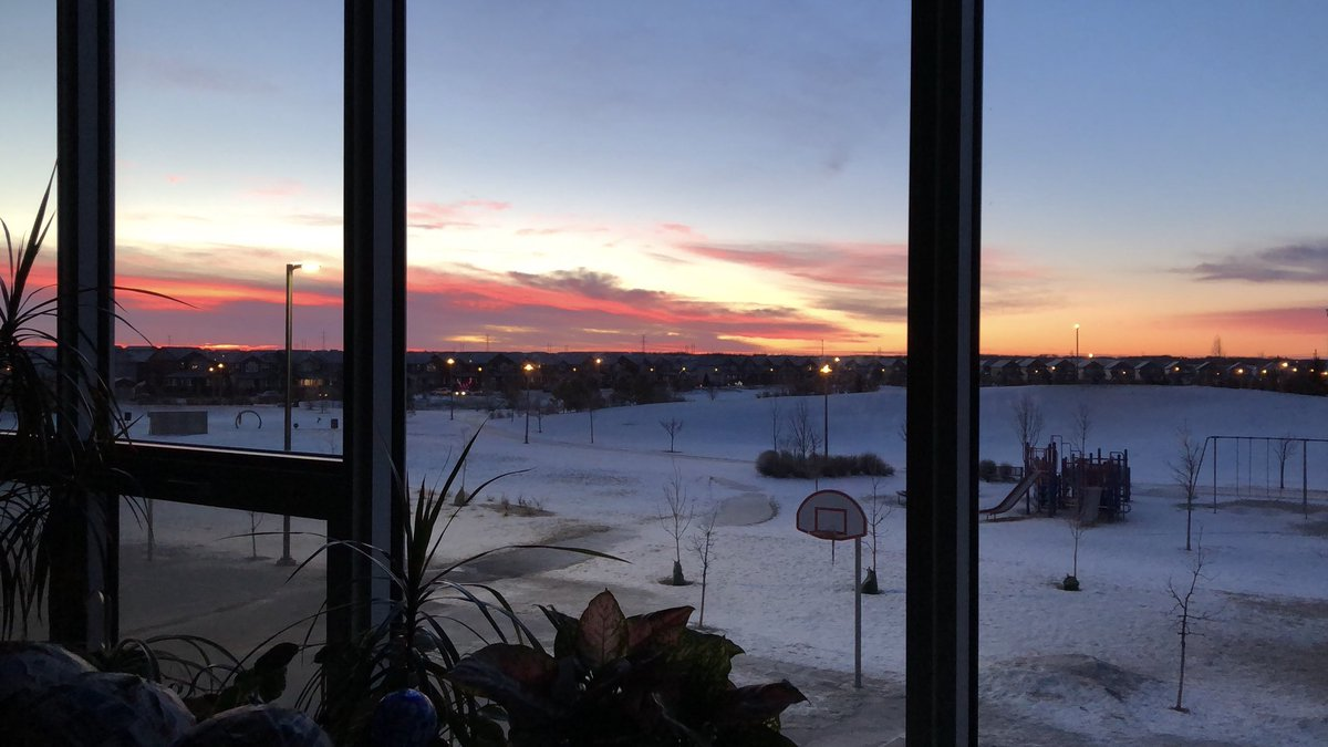 A beautiful sunrise at @chief_school #spslearn
