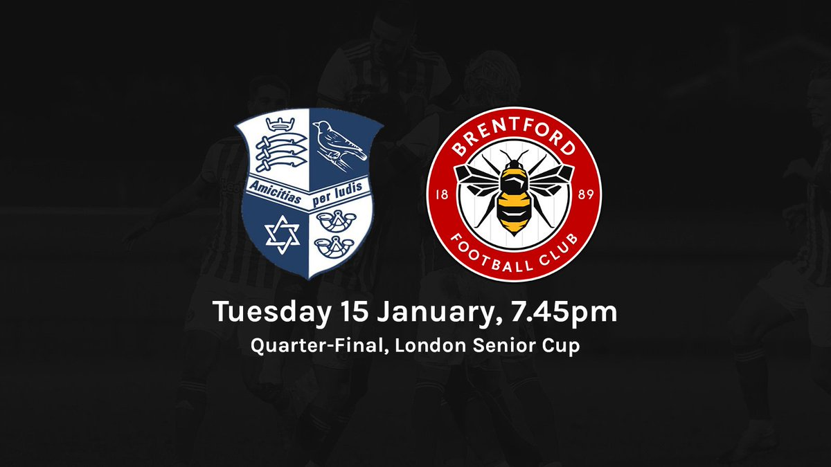 #BrentfordB are also in the Quarter-Final of the @LondonFA Cup  The draw sees us play away to @WinFinchleyFC on Tuesday 15 January 2019 🏆