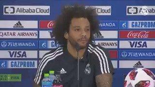 🗨🎙🌐 ¡@MarceloM12 en la rueda de prensa previa al encuentro de semifinales del Mundial de Clubes!  #RMCWC | #HalaMadrid