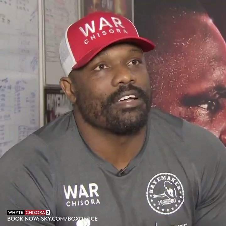 Over three years since the BEEF between @DillianWhyte and @DerekWarChisora started. On Saturday night it gets resolved once and for all 👊