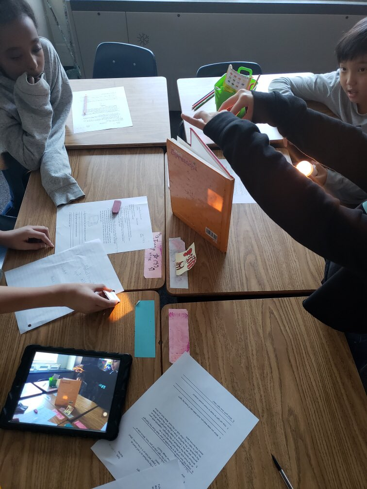 5th graders are using mirrors in Science today to learn about properties of light! <a target='_blank' href='http://search.twitter.com/search?q=HFBTweets'><a target='_blank' href='https://twitter.com/hashtag/HFBTweets?src=hash'>#HFBTweets</a></a> <a target='_blank' href='http://search.twitter.com/search?q=APSisAwesome'><a target='_blank' href='https://twitter.com/hashtag/APSisAwesome?src=hash'>#APSisAwesome</a></a> <a target='_blank' href='https://t.co/Iea1WUplk6'>https://t.co/Iea1WUplk6</a>