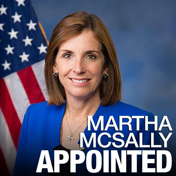 #BREAKING: Gov. Ducey has appointed Martha McSally to the United States Senate, following the resignation of Sen. Jon Kyl.