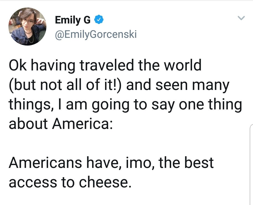 Let's see past the sheer ignorance of the diversity of the French cheese scene  and admire that shift from non-count to count noun. #LLCER #English #Grammar<br>http://pic.twitter.com/jcoSa7UGHT
