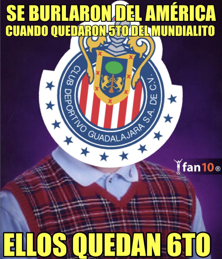 Los memes del fracaso de Chivas en el Mundial de Clubes - Futbol Total a2eade658ded9