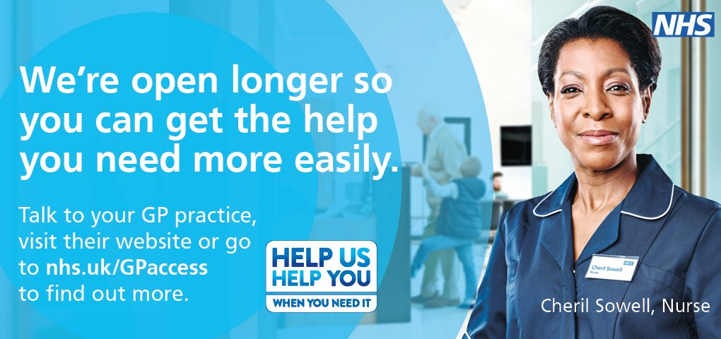 Did you know you can now see us at evening and weekends too? Good news for those who are not able to visit your GP surgery in the day and also helps ease pressure on A&E services    #StayWellThisWinter#GPaccess#HelpUsHelpYouhttps://t.co/ieFhiaPKiT