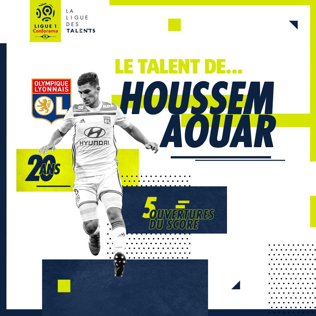 🌟 Le talent de... Houssem Aouar 🌟    📸 Focus sur le milieu de terrain de l'@OL qui a de nouveau porté son équipe contre Monaco et qui réalise une 1ère partie de saison de haut niveau !🔝    📝➡️ https://bit.ly/2A4bQCd