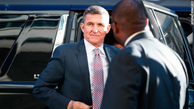 President Trump's former national security adviser Michael Flynn arrives in court to be sentenced after pleading guilty to lying to investigators. Follow live: https://cnn.it/2Cl33Nu