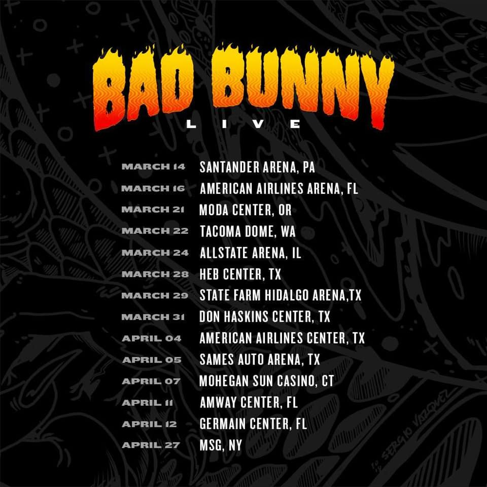 Bad Bunny announces new U.S. tour dates for 2019   Who&#39;s pulling up? <br>http://pic.twitter.com/j2nJrt9I6T