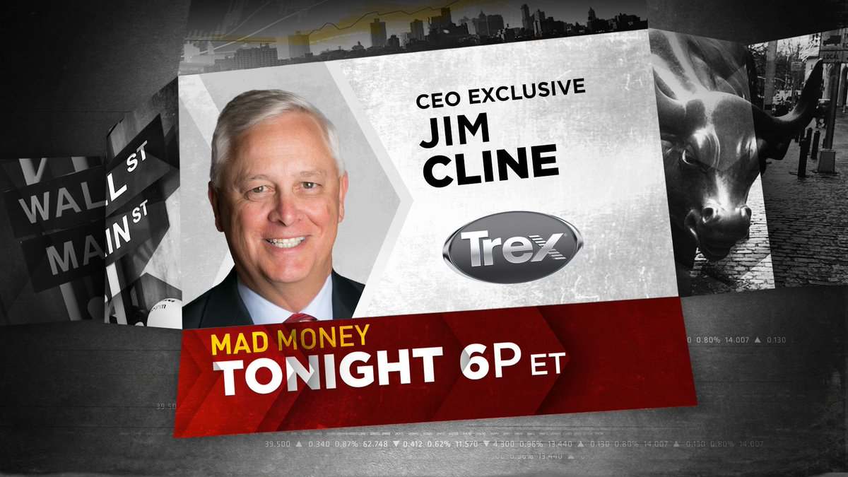It's time to deck the halls, but should you also be decking your homes? @jimcramer is getting an update on all things outdoor living from decking to the state of recycled materials from the CEO of @Trex_Company tonight - Don't miss this!