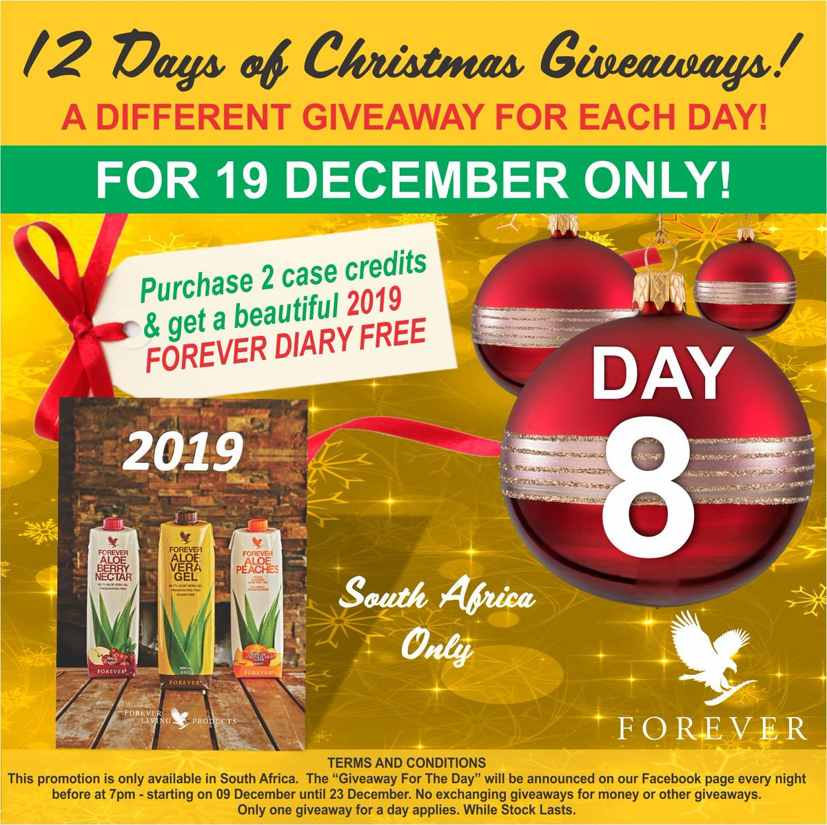 Christmas Giveaways 2019.Forever Sa Hq On Twitter 12 Day Christmas Giveaway Day