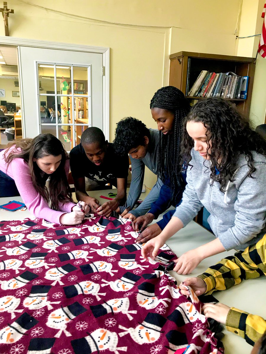 test Twitter Media - Junior & Senior theology classes with Ms. Ellen Gasson crafted homemade blankets and Christmas cards for the residents at our South End neighbors @PineStreetInn. The whole school enhanced the gift with a socks and mittens drive coordinated by Campus Ministry Club. https://t.co/EyU3jMUWTa