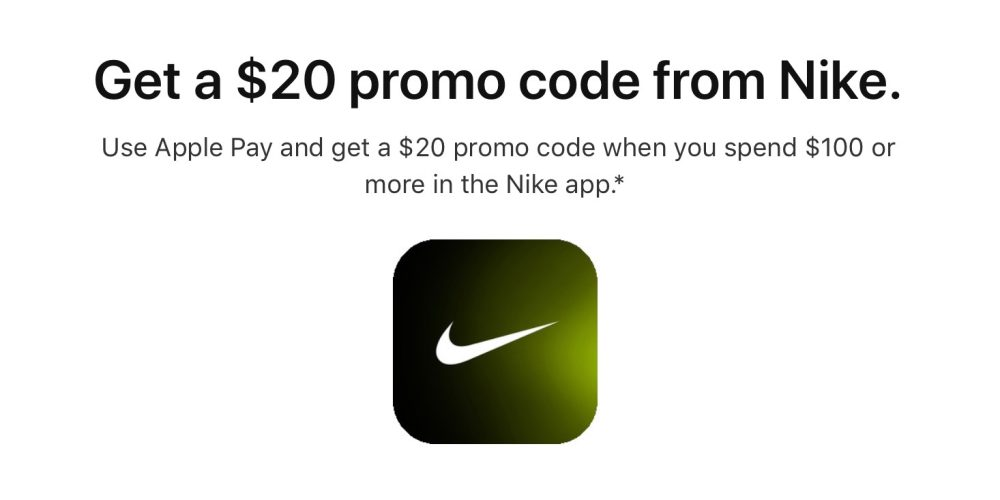 d1c51ecdc85419 apple pay promotion brings back 20 nike discount for last minute holiday  shoppers by