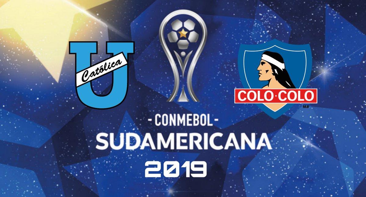 Resultado de imagen para Universidad Catolica vs Colo Colo Sudamericana 2019