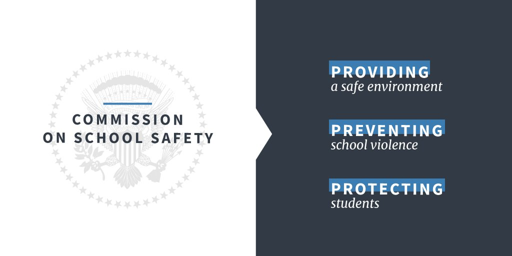 Following the tragic shooting in Parkland, Florida, President Trump established the School Safety Commission to make recommendations on preventing violence in our schools.   Today, the Commission released its report: https://t.co/4gfZ9zBzpU