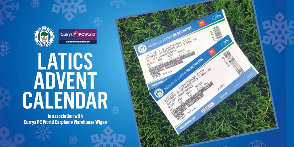 🎄🎁 Good morning!  Day 19 of #LaticsAdvent and we're offering two tickets to our final home game of 2018 against Birmingham City on Saturday!  Simply let us know who you'd bring to the game to enter 😀  #wafc 🔵⚪️💚