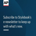 Image for the Tweet beginning: AP Stylebook editors have made