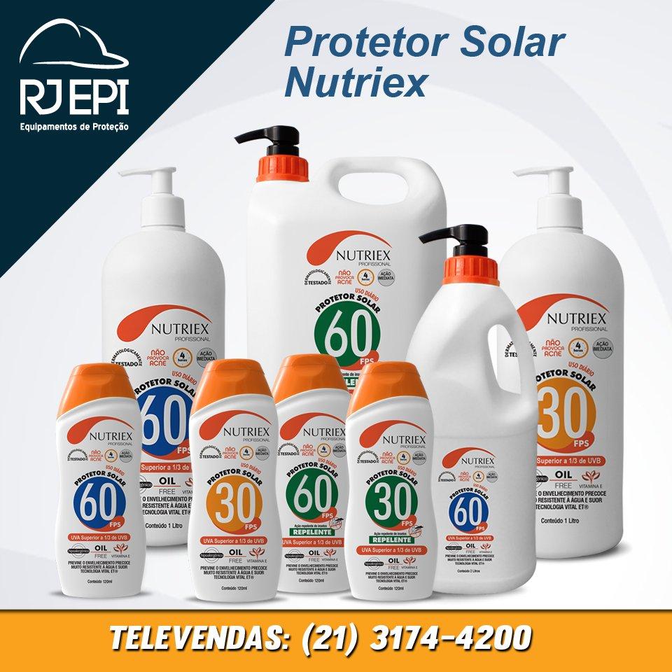 RJ EPI Ferramentas Suprimentos e Mat. de Limpeza Confira a linha de  protetor solar da  Nutriex  rjepi  segurançadotrabalho  segurancadotrabalho   verão ... 142e2a627b