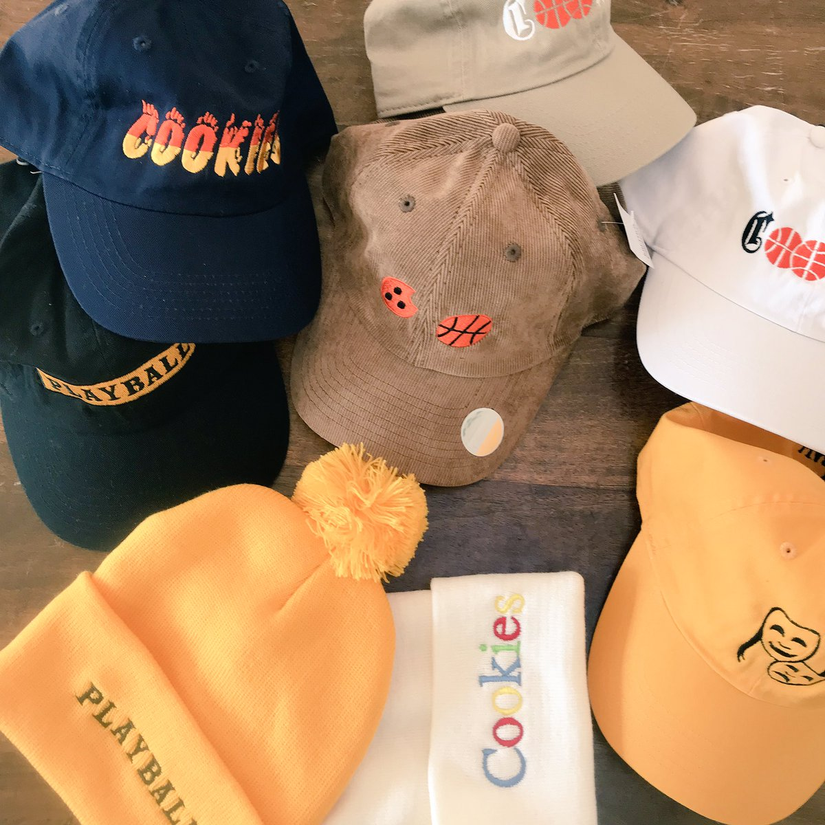 live look at the @CookiesHoops hat stash. All currently available on cookieshoop.com