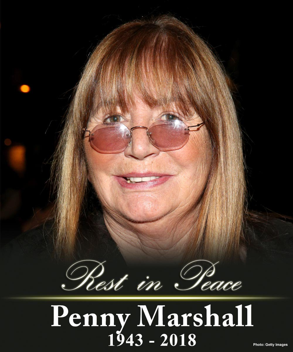 #BREAKING: Actress and comedian Penny Marshall has died at age 75.