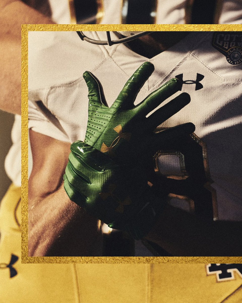 Notre Dame Shows Off New Aspect Of CFB Playoff Uniform