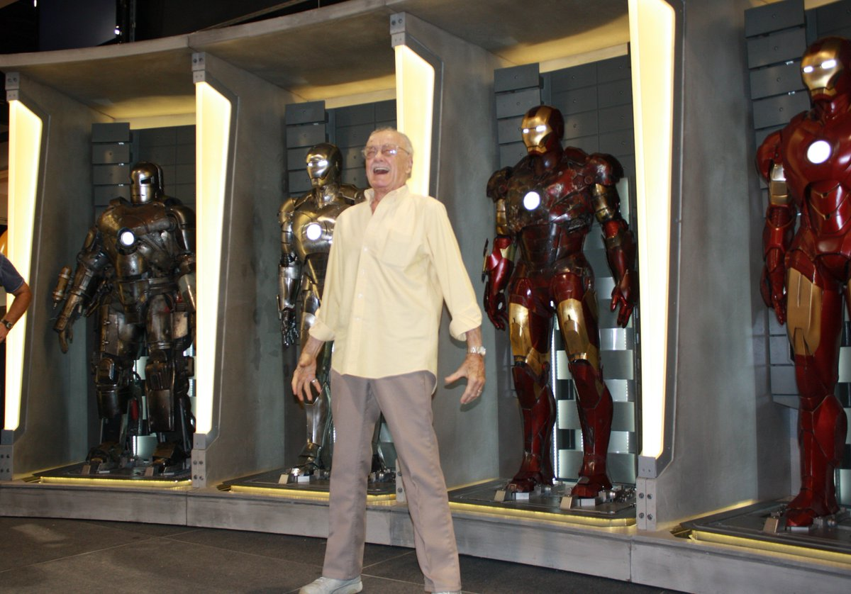 Here's a special Tuesday throwback from a few years ago... Suitable Stance: Check. Excitement Level: Double check. Armor: Stan just couldn't decide! Which Iron Man suit would you choose? Mark I-IV and beyond!