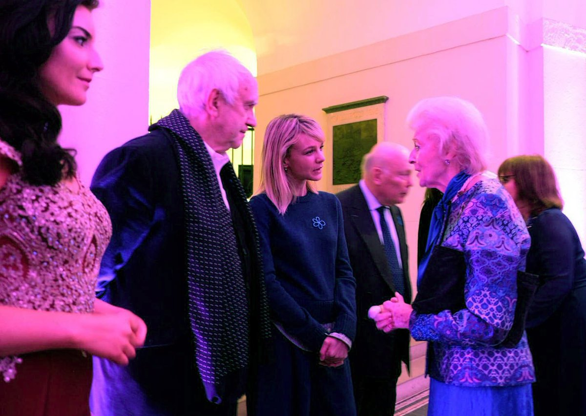 Before the concert Princess Alexandra met Actress and@alzheimerssoc Ambassador Carey Mulligan.