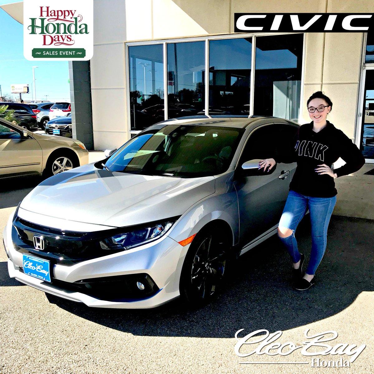 Cleo Bay Honda >> Cleo Bay Honda On Twitter Congratulations Hannah On Your Recent