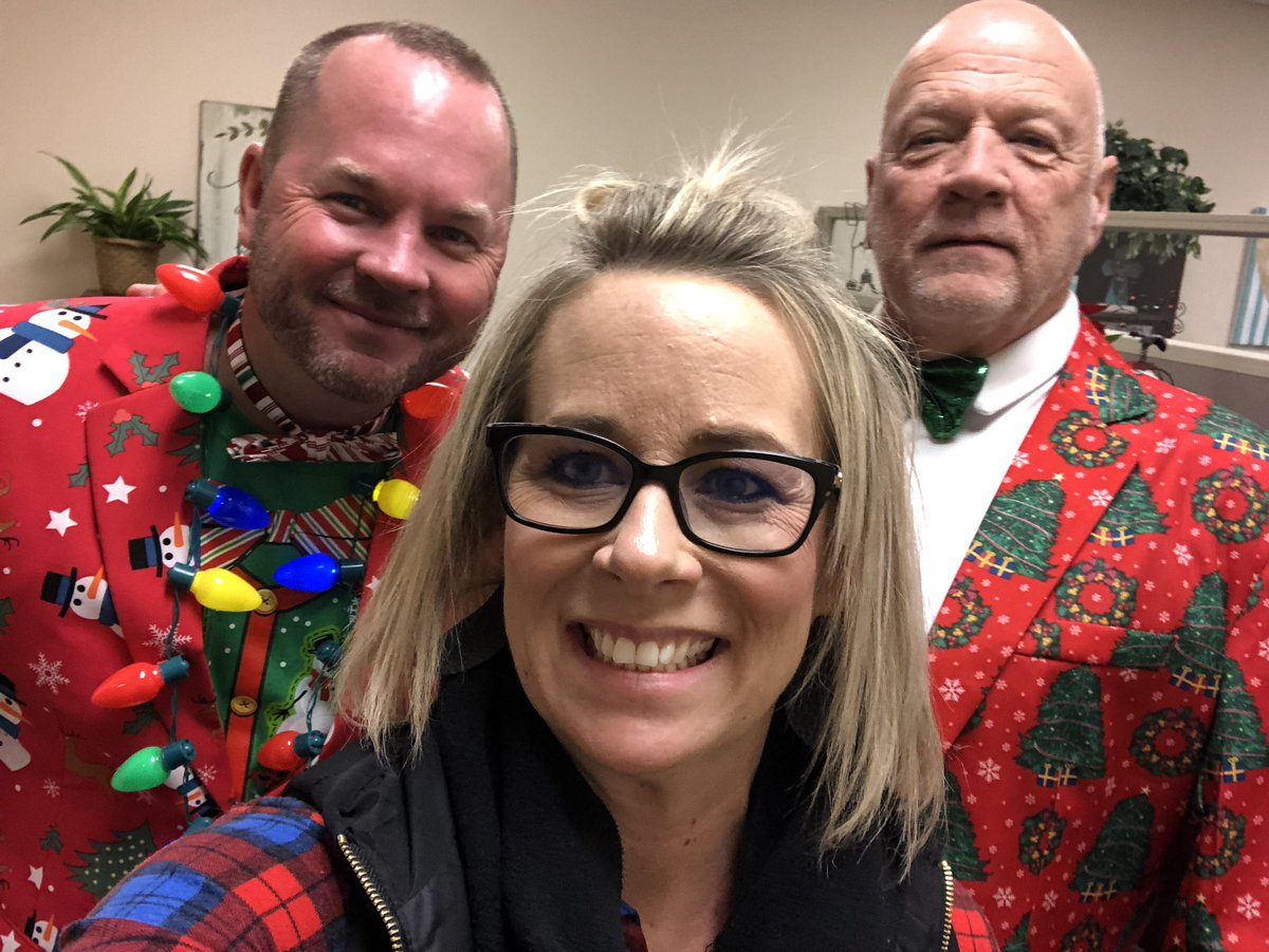 These two guys are spreading Christmas cheer in Canyon ISD! @TobyTucker @CanyonISD_Supt #WeLeadTX #shenanigans