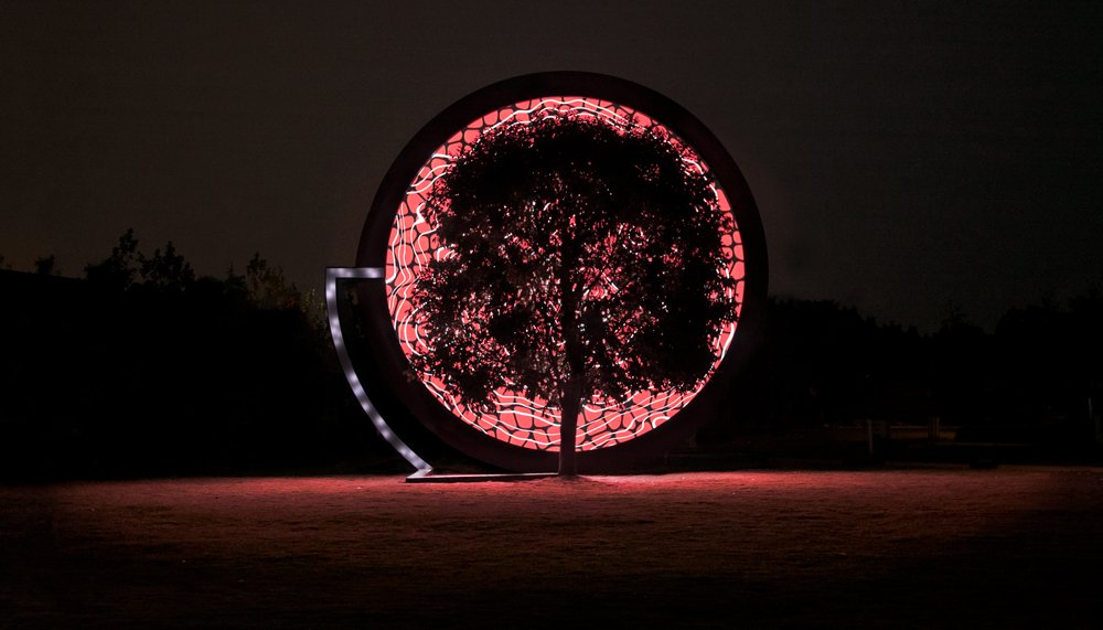 This tree produces psychedelic art by using sensors to monitor its own health https://t.co/lZPnWbzQie