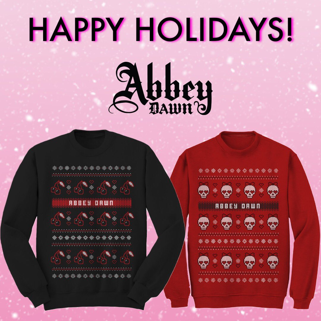 One more week until Christmas!! Get your @AbbeyDawn Christmas sweaters at  🖤🖤