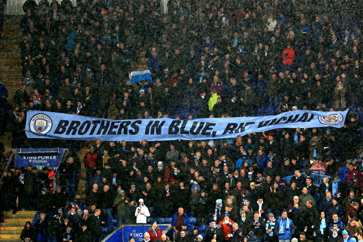 Brothers in blue, RIP Vichai 💙